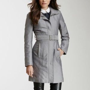 Jackets & Blazers - Kenneth Cole Silver Trench Coat